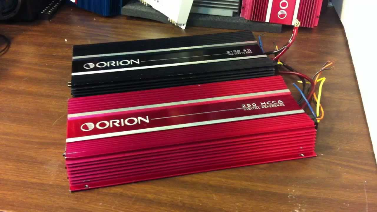 Old School Orion Amps - Hcca And Sx