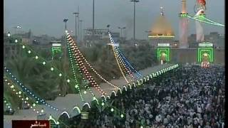 Karbala TV - Manazer before maghrib at roza of Imam Hussain A.S. and Hazrat Abbas AS