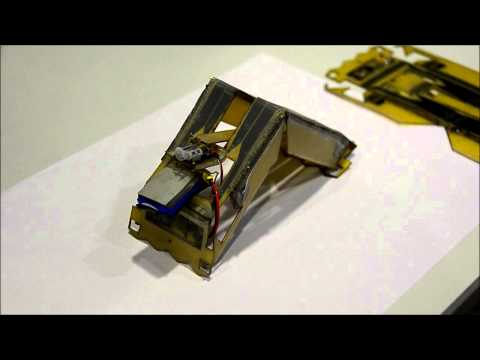 Robot Self-Assembly by Folding: A Printed Inchworm Robot