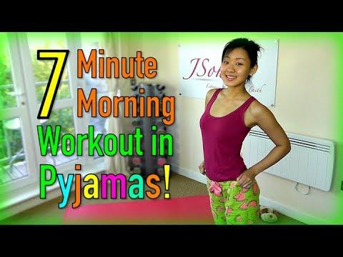7 minute morning workout in pyjamas youtube. Black Bedroom Furniture Sets. Home Design Ideas