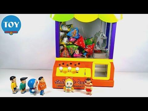 Doraemon đồ chơi máy gắp kẹo khổng lồ hình Nobita Xuka Chaien Xeko thi gắp kẹo Doremon