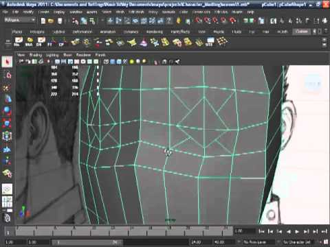 Maya 2011-Human Head Modeling-03
