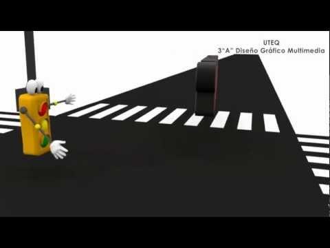 Intro Semaforo en 3D, proyecto leyes de transito - Cinema 4d