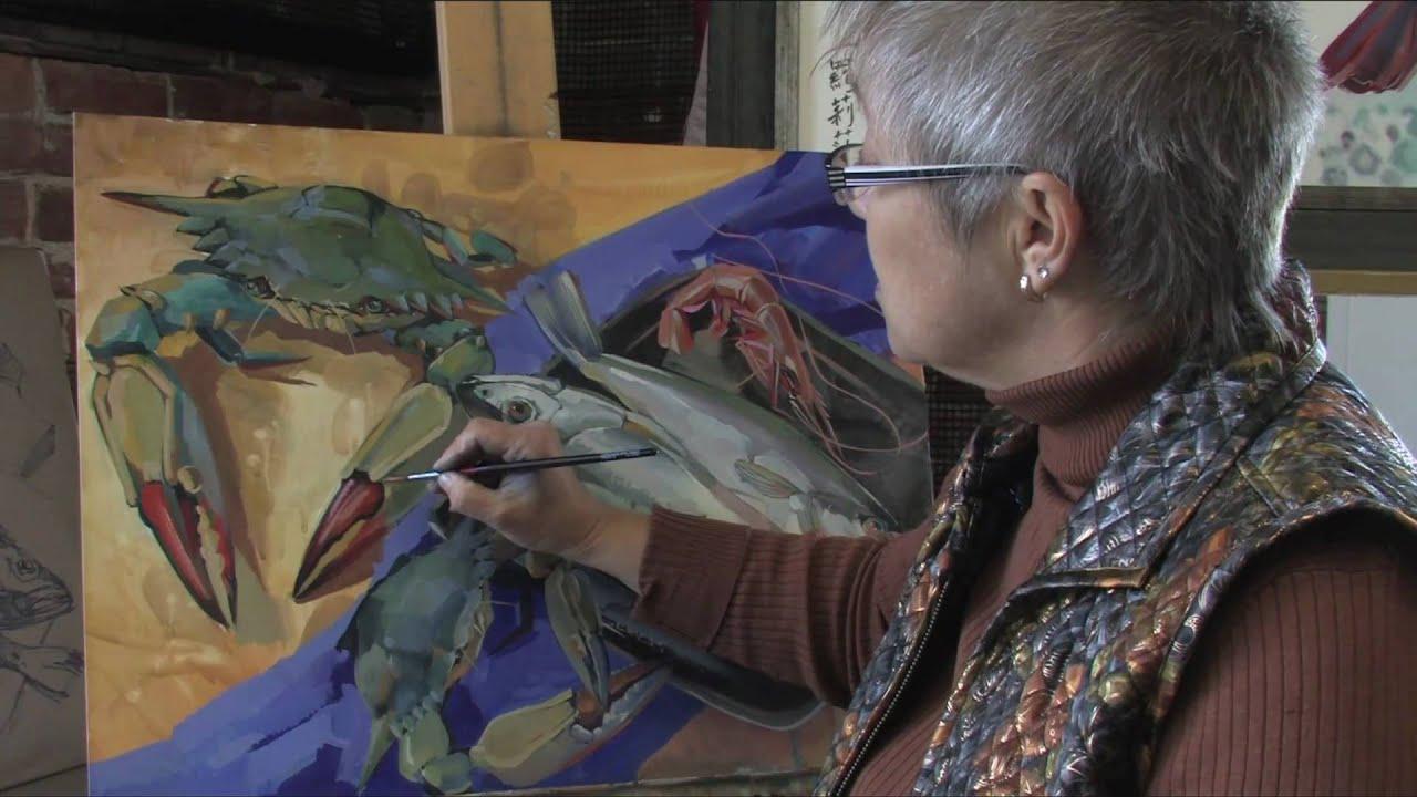 casein tempera painting with larisa ivakina clevenger