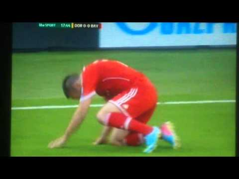 Champions League Final 2013 - Franck Ribéry assumes favourite sexual position