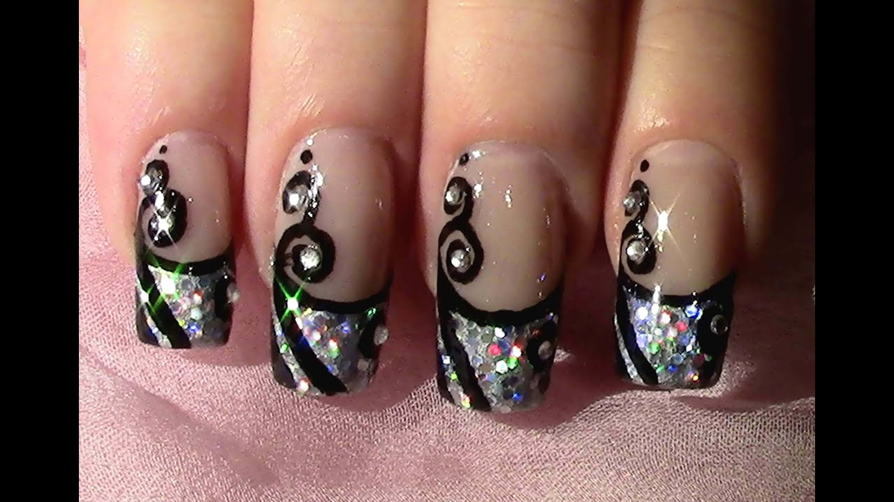 ... zum selber machen / New Year's Eve Nail Art Design Tutorial - YouTube