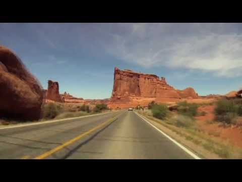 Arches National Park High Speed Run - GoPro Footage from Moab, Utah