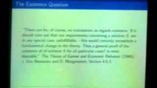Brown University SUMS 2012 - Prof. Rajiv Vohra, Brown University