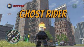 LEGO Marvel Superheroes Ghost Rider Free Roam Gameplay