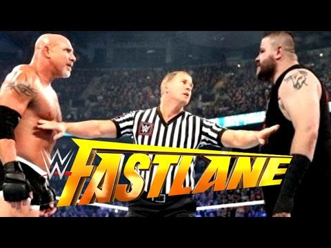 WWE FASTLANE 2017 Goldberg vs Kevin Owens