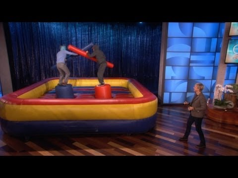 Owen Wilson and Woody Harrelson Joust