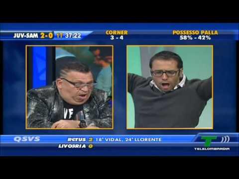 QSVS - il momento dei gol di Juventus - Sampdoria 4 - 2 (TeleLombardia)