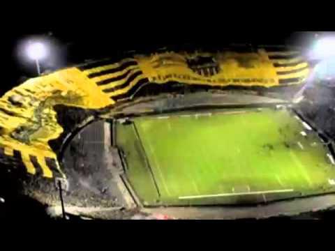 Maior bandeira do mundo cobre metade de estádio uruguaio -