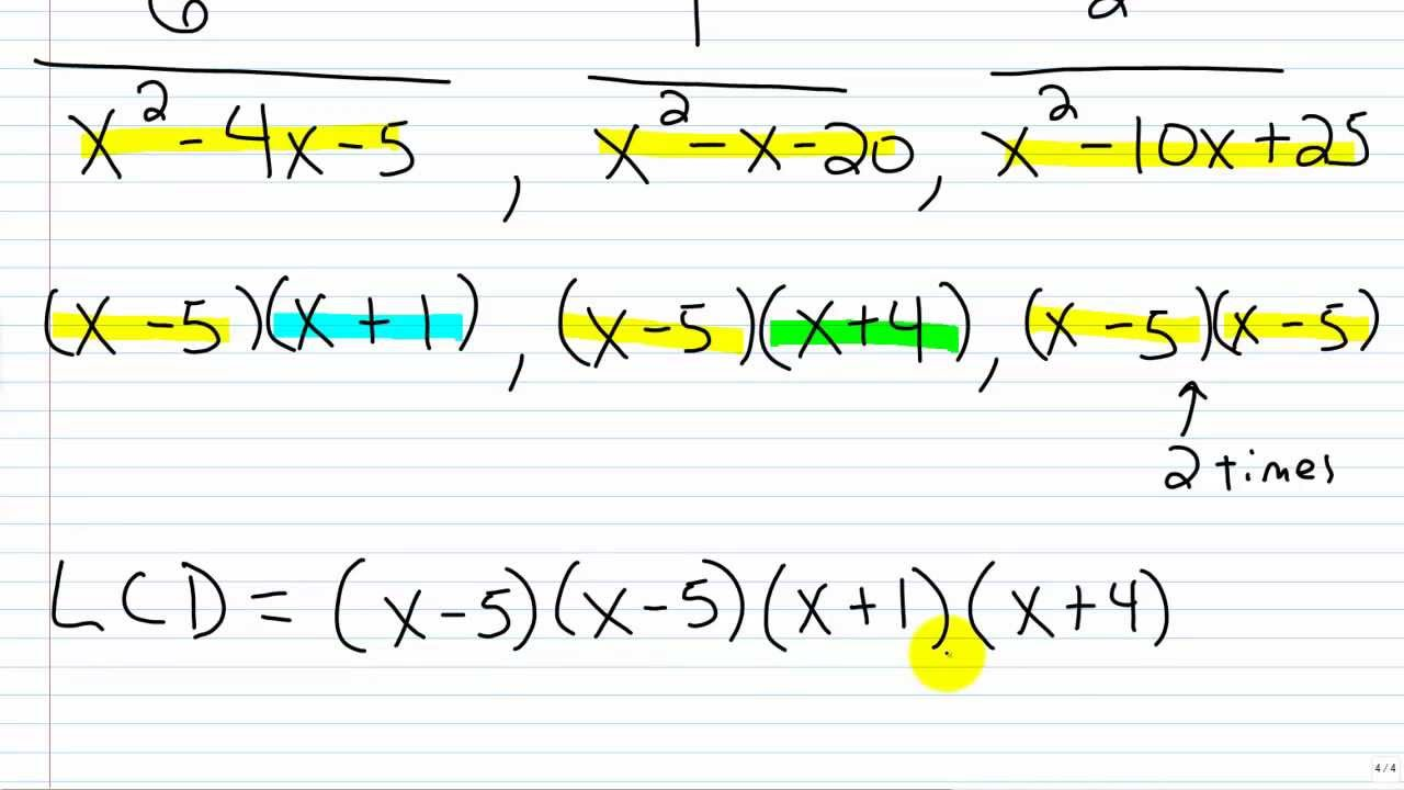 how to find the missing denominator