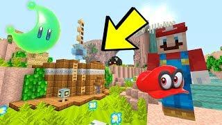 Minecraft Switch - Super Mario Series - ODYSSEY SHIP IN CASCADE KINGDOM! [MOONS] [219]