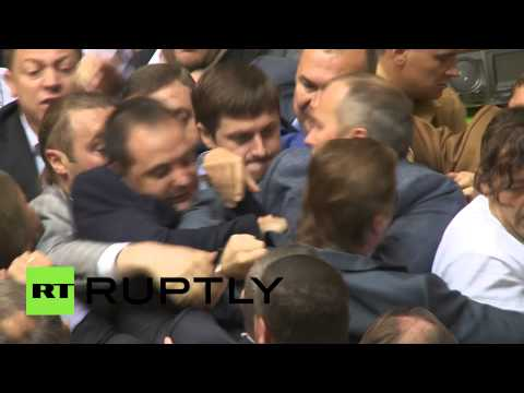Rada brawl video: Ukraine parliament fistfight breaks out again