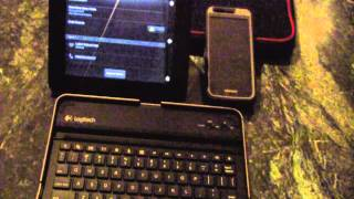Logitech Keyboard Case Paired With The Kindle Fire HD 7