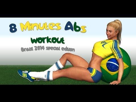 Abdominales en 8 min - Brazil 2014 Edition