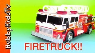 Fire Truck Toy SIRENS! LIGHTS! LADDER! AUTOMATIC! [Box