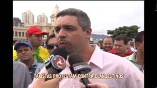 Taxistas protestam com carreata no Centro de BH