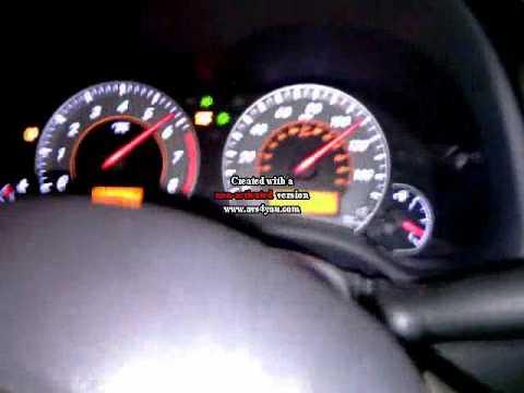 Разгон автомобиля со стоковым двигателем 2ZR-FE