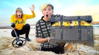 Who Can FIND The Most BURIED TREASURE - Challenge