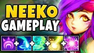 NEW CHAMPION NEEKO IS 100% BEYOND BROKEN! (HUGE DAMAGE) NEEKO MID GAMEPLAY! - League of Legends