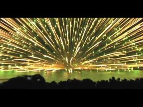 Huge Fireworks Explosion: 900 Millimeter Shell