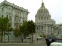 Driving past SF City Hall Van Ness St - San Francisco Civic Center Bart