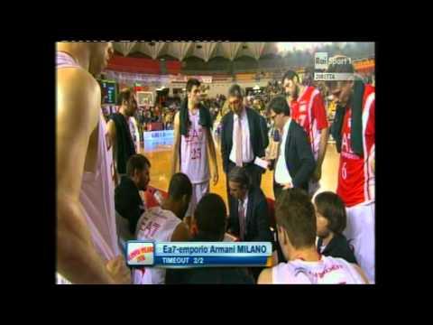 Acea Roma vs EA7 Emporio Armani Milano (Lega Basket A # Giornata 31 # 25/04/12)
