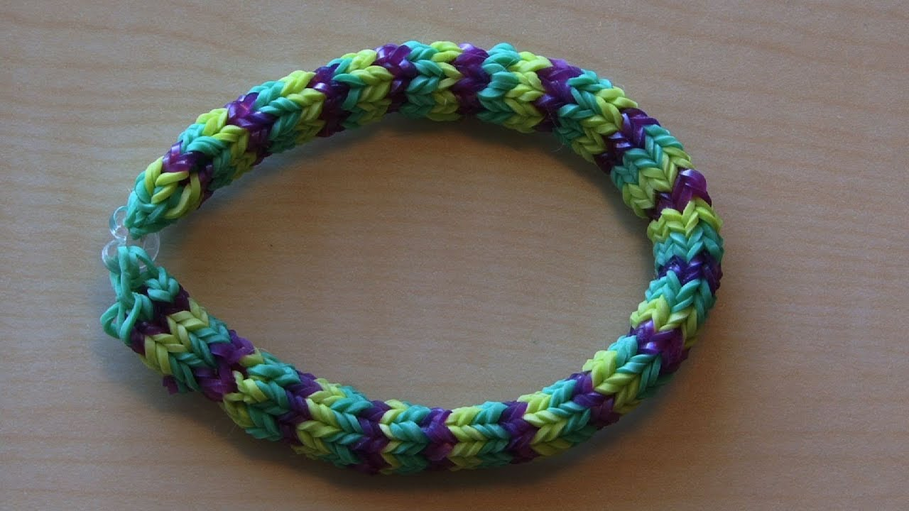 rainbow loom hexafish bracelet how to youtube