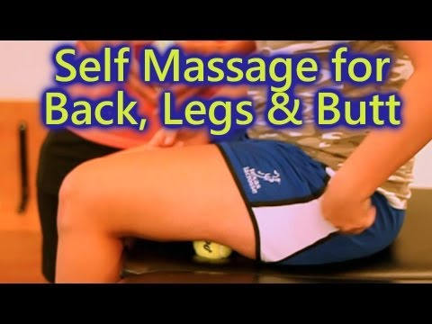 Home Self Massage: Back, Leg & Butt Pain, Sports Massage How To Techniques Austin