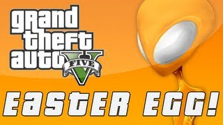 Grand Theft Auto 5 Orange UFO Hologram Easter Egg (GTA V