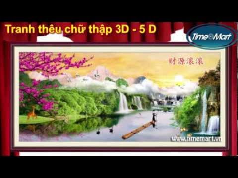 Tranh Thêu Chữ Thập 3D, 5D - Shop tranh thêu Timemart.