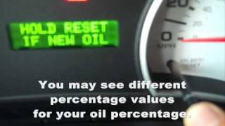 2007 Sport Trac Oil Reset (How To)