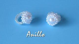 Anillo de perlas para novia
