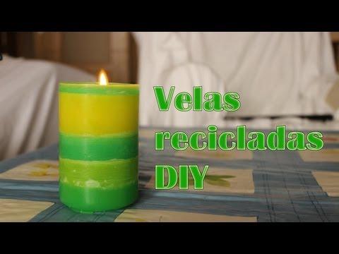 Reciclar velas viejas a velas chulísimas, Manualidades Fáciles