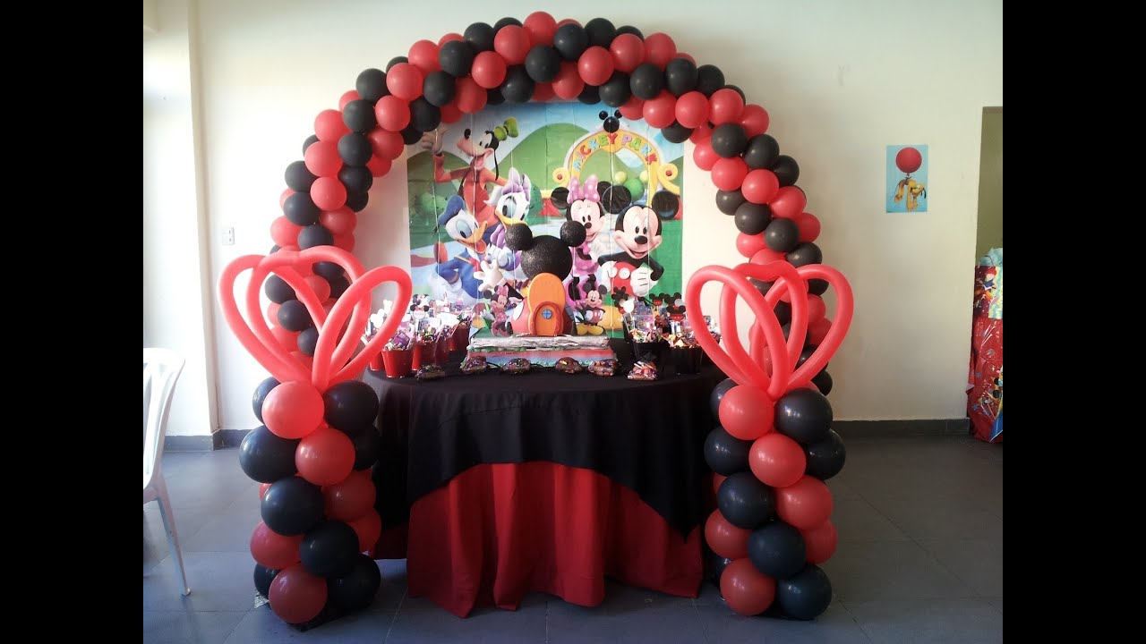 mickey mouse decoracion de globos decoracion cumpleaos mickey mouse youtube