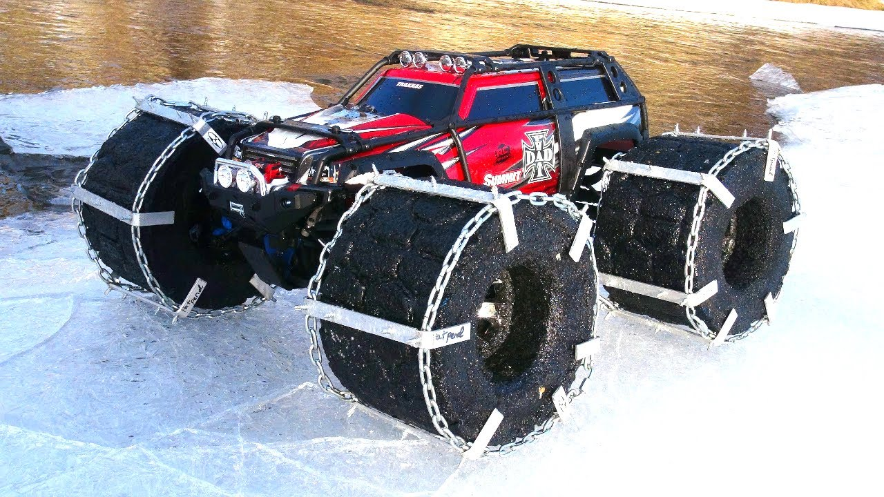 Rc Adventures Floating Traxxas Summit Ice Chains