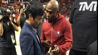 Watch: Manny Pacquiao and Floyd Mayweather meet Face to face