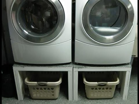 How To Build A Front Load Washer And Dryer Pedestal Stand