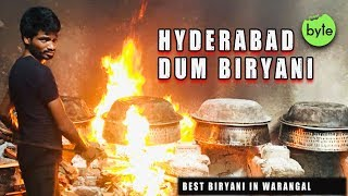 Amazing Chicken Dum Biryani Preparation   Biryani for 100 Rs   Best Biryani in Warangal