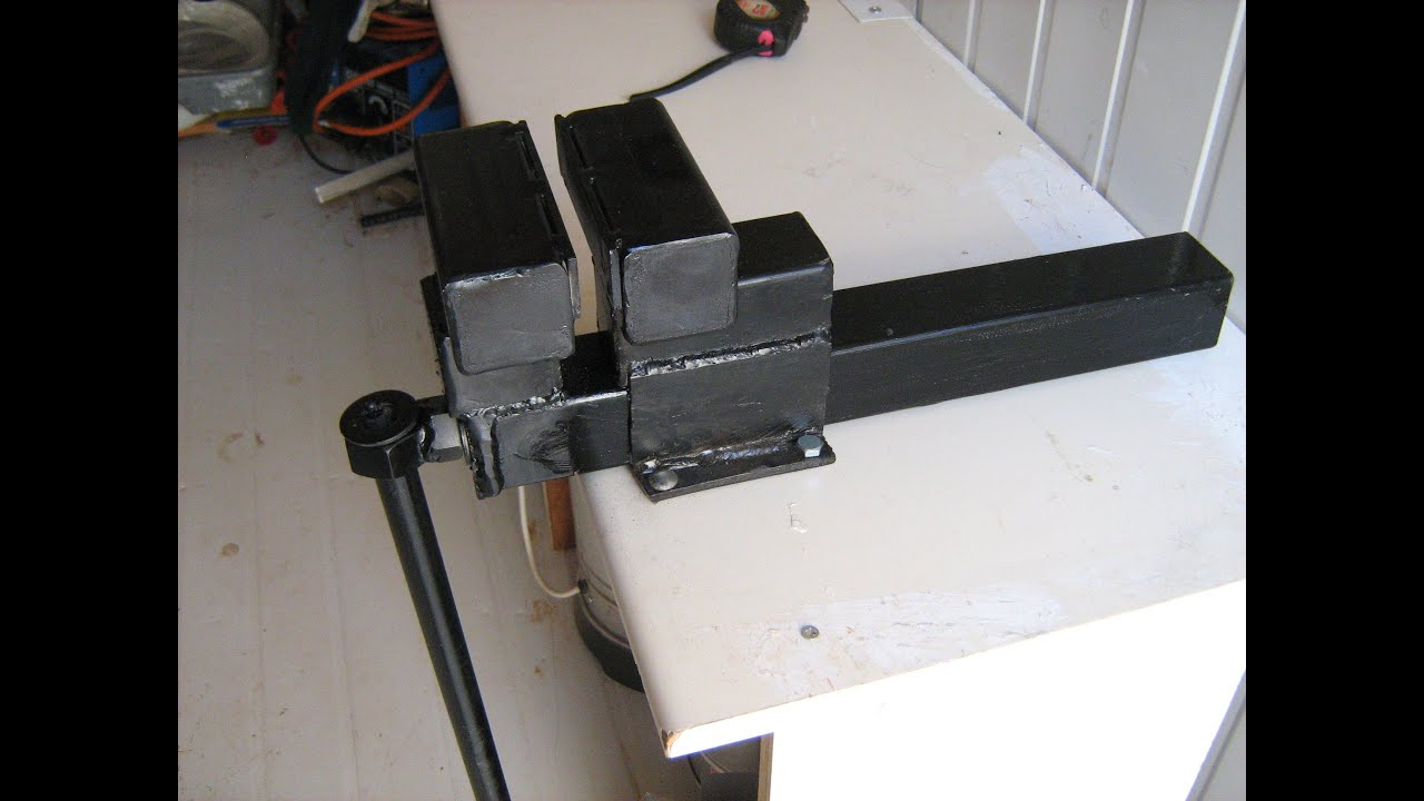 homemade bench vise gun vise plans homemade gun vise wood vice bow ...