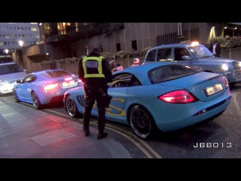 TURQUOISE SLR 722 & Quicksilver DBS Pulled over by Police in Lon