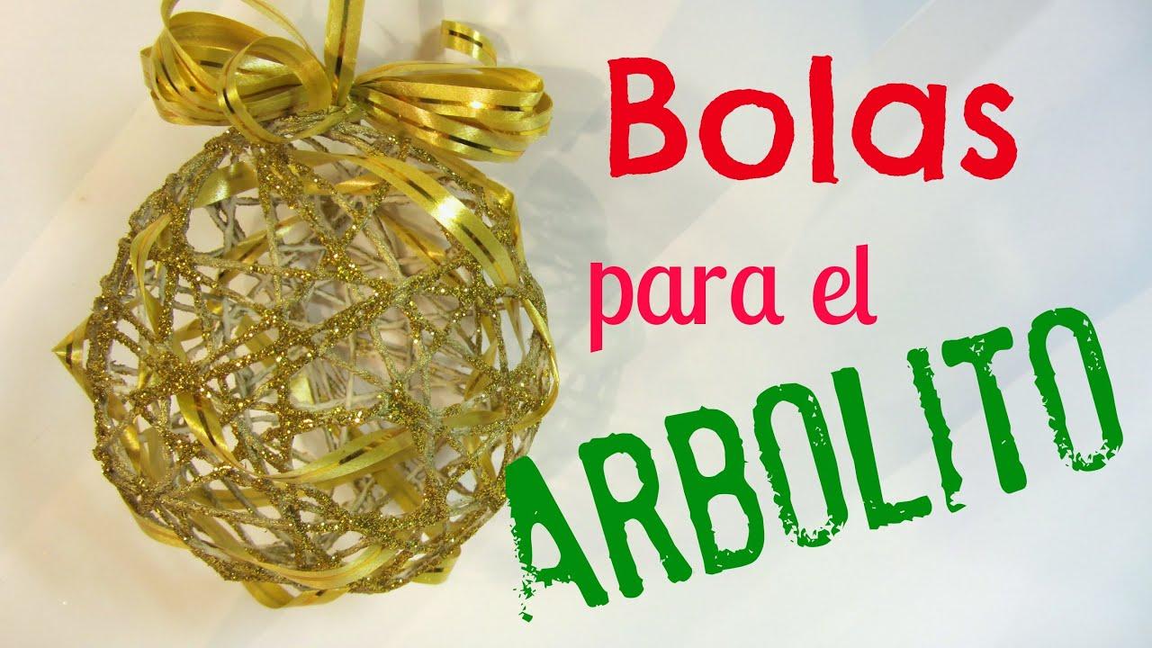 C mo hacer bolas esferas para el rbol youtube - Tutorial arbol de navidad ...
