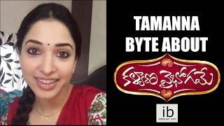 Tamannah & Nitin's bytes about Kalyana Vaibhogame