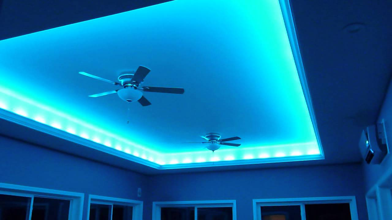 Crazy Lights LED indirect lighting for the ceiling. - YouTube