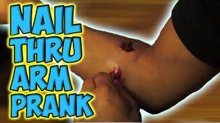 Nail Thru Arm Prank