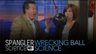 Wrecking Ball Science: Swinging Bowling Ball: Cool Science Experiment