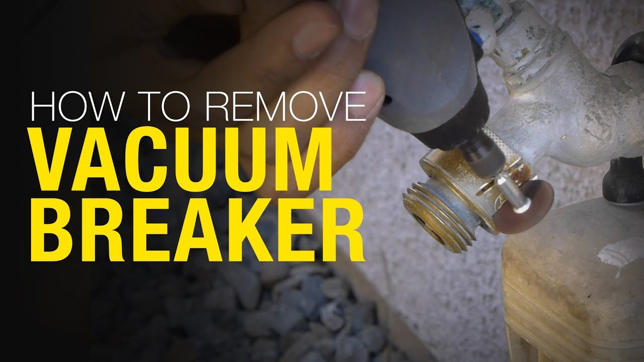 How To Remove And Replace A Vacuum Breaker Backflow Preventer Youtube